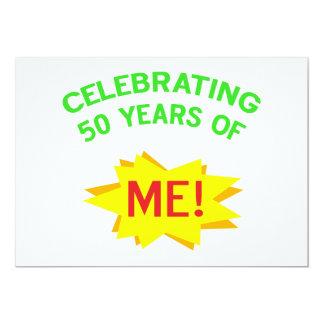 Celebrating 50th Birthday Gifts 13 Cm X 18 Cm Invitation Card