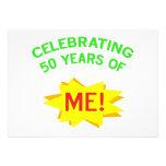 Celebrating 50th Birthday Gifts Custom Invitations