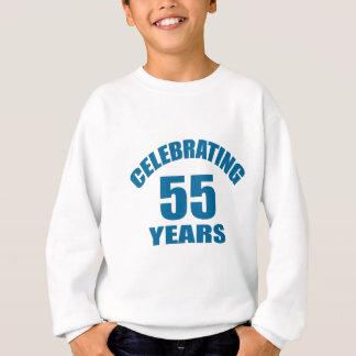 Celebrating 55 Years Birthday Designs Sweatshirt