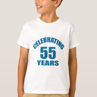 Celebrating 55 Years Birthday Designs T-Shirt