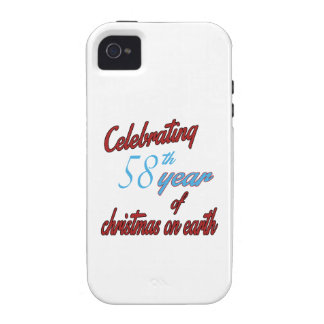 Celebrating 58th year of christmas on earth iPhone 4/4S cover