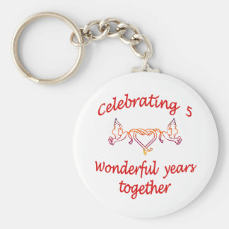 CELEBRATING 5 YEARS TOGETHER BASIC ROUND BUTTON KEY RING