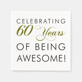 Celebrating 60 Years Of Being Awesome Disposable Serviettes