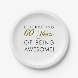 Celebrating 60 Years Of Being Awesome Paper Plate
