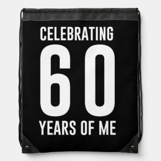 Celebrating 60 Years of Me Drawstring Bag