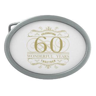 Celebrating 60th Anniversary Belt Buckle