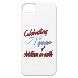 Celebrating 71st year of christmas on earth iPhone 5 cases