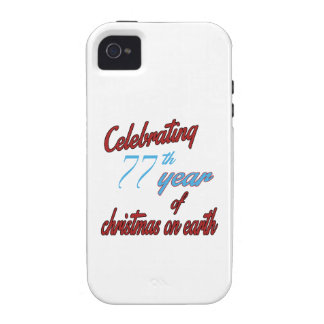 Celebrating 77th year of christmas on earth Case-Mate iPhone 4 case