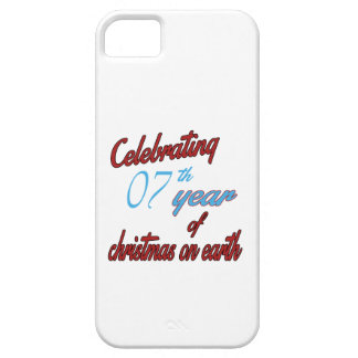 Celebrating 7th year of christmas on earth iPhone 5 cases