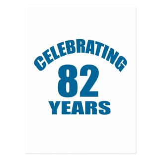 Celebrating 82 Years Birthday Designs Postcard