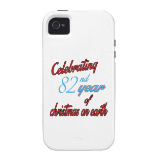 Celebrating 82nd year of christmas on earth iPhone 4/4S cases