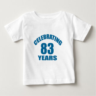 Celebrating 83 Years Birthday Designs Baby T-Shirt