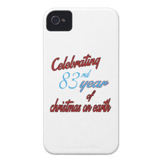 Celebrating 83rd year of christmas on earth iPhone 4 case