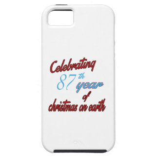 Celebrating 87th year of christmas on earth iPhone 5 case