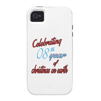 Celebrating 8th year of christmas on earth Case-Mate iPhone 4 covers