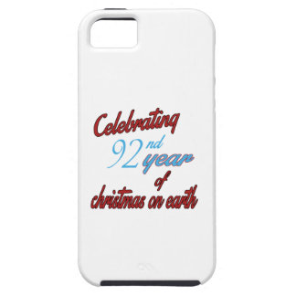 Celebrating 92nd year of christmas on earth iPhone 5 cases