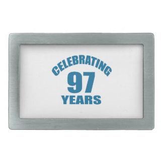 Celebrating 97 Years Birthday Designs Belt Buckle