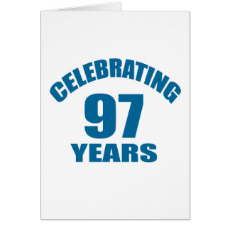 Celebrating 97 Years Birthday Designs Card