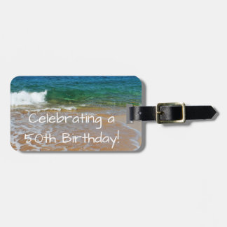 Celebrating a 50th Birthday Luggage Tag