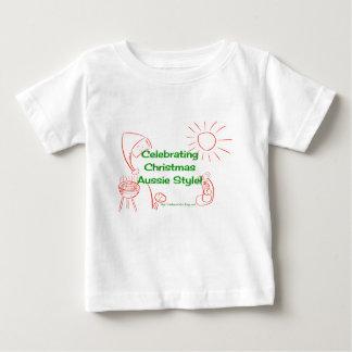 Celebrating Christmas Aussie Style shirt green/red
