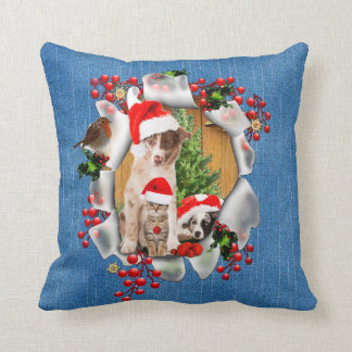 Celebrating Christmas with pet-lovers Cushion