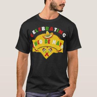 Celebrating Cinco de Mayo Sombrero Maracas T-Shirt