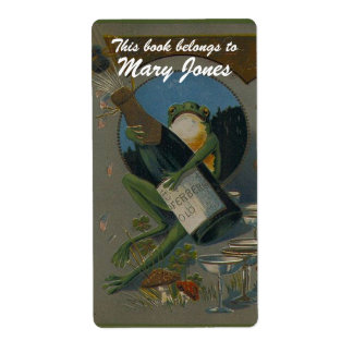 Celebrating Frog  Bookplate Shipping Label