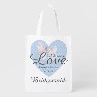Celebrating Love Romantic Blue Heart Bridesmaid