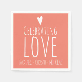 Celebrating Love | Wedding Disposable Napkin