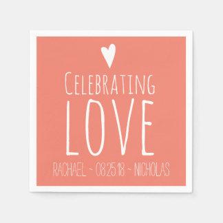 Celebrating Love | Wedding Disposable Napkin