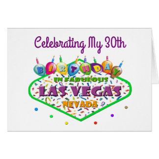 Celebrating My 30th Las Vegas Birthday Card