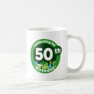 Celebrating My 50th Birthday Basic White Mug