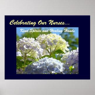 Celebrating Our Nurses Kind Spirits Healing Hands Poster
