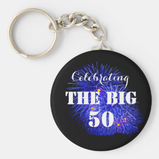 Celebrating THE BIG 50 - Basic Round Button Key Ring