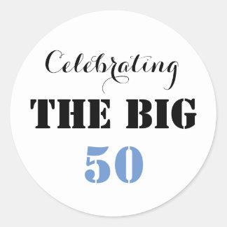 Celebrating THE BIG 50 - Classic Round Sticker