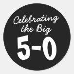Celebrating the Big 50th Birthday Round Sticker
