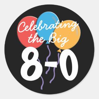 Celebrating the Big 80th Birthday Classic Round Sticker