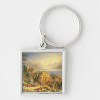 Celebrating the Grape Harvest, Lake Orta, North It Keychain
