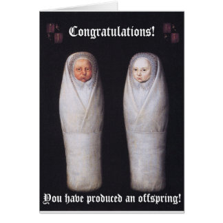 Celebrating the production of an offspring (blank) card