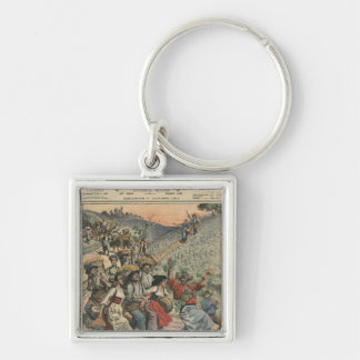 Celebrating the wine harvest in Alsace Key Chain