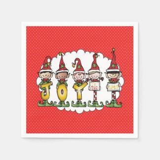 Celebrating With Joy Christmas Party Napkins Paper Napkins