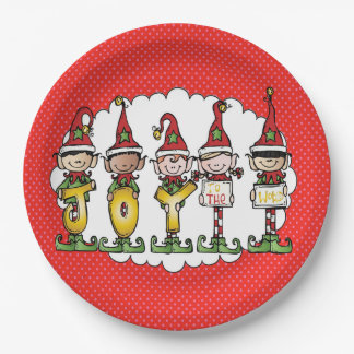 Celebrating With Joy Christmas Party Paper Plates