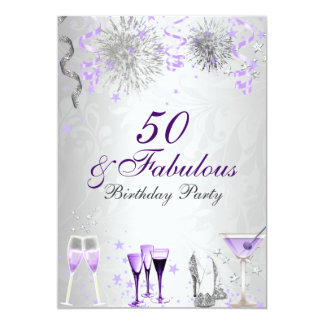 Celebration 50 & Fabulous Birthday Invitation