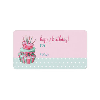Celebration Cake Gift Tag Label Address Label