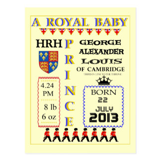 Celebration Cards Royal Prince George of Cambridge Postcard
