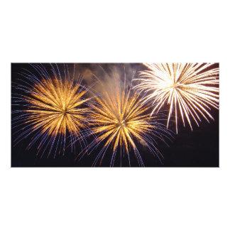 Celebration firework customised photo card