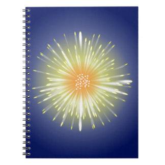 Celebration Firework Spiral Notebook