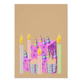 Celebration Invitation on Golden Acrylic Texture