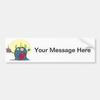 Celebration Monster Bumper Sticker