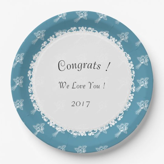 Celebration-Multi-Use-Template_Blue-White-Roses 9 Inch Paper Plate